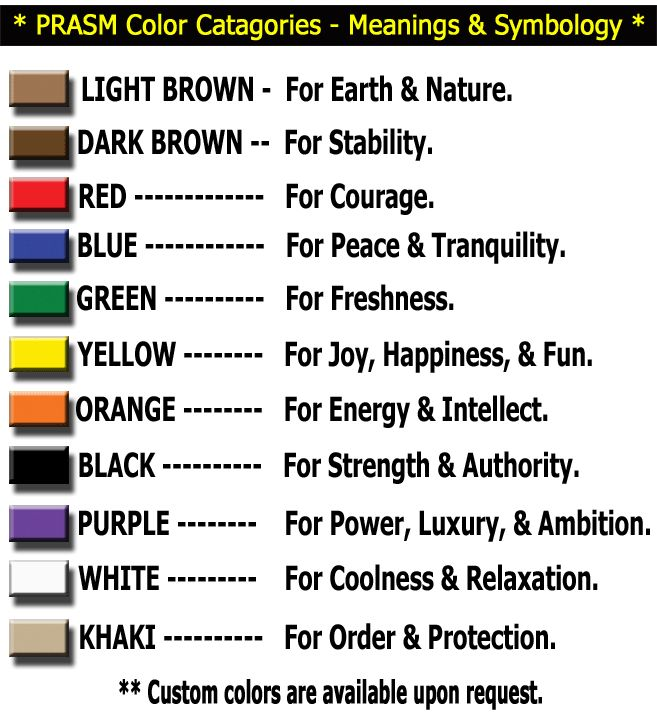 Color Catagories Meanings Symbology Colors