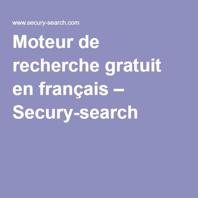 Moteur de recherche gratuit en français – Secury-search