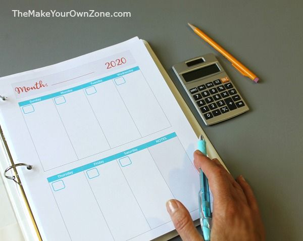 2020 Free Printable Planner Pages (With Images) Planner