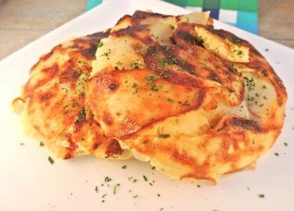 Recept voor aardappeltortilla met ui, paprika en Boursin