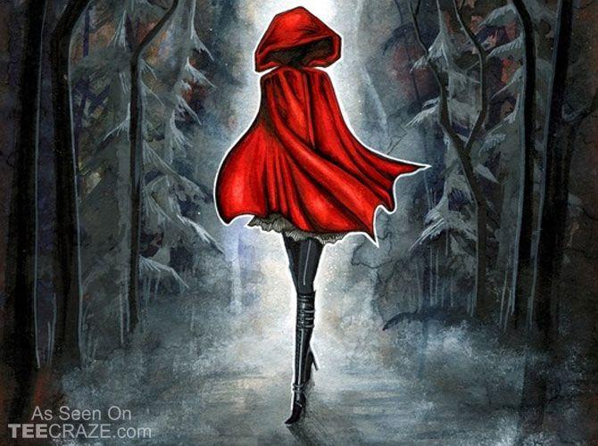 Little Red Riding Hood Poster - http://teecraze.com/little-red-riding-hood-poster/ -  Designed by Annya Kai     #poster #art #WallArt #HomeDecor