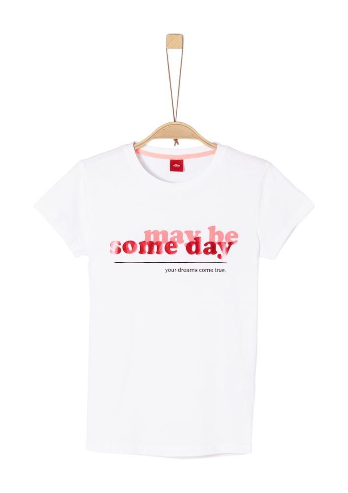 S Oliver Junior Shirt Madchen Hellpink Rot Schwarz Weiss Grosse 140 146 In 2020 Rot Schwarz Shirts Und Schwarz Weiss