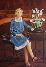 Dibujar, pintar y mucho más: Retrato de mi abuela nurarte.blogspot.com