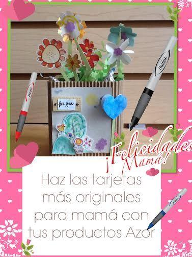 Todos los días son el momento perfecto para hacerle una hermosa tarjeta a mamá, ¿ya hiciste la tuya? ¡Que sea especial, con tus productos #AZOR!