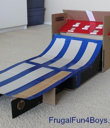 #DIY Cardboard Box Skee Ball #Game for #Kids