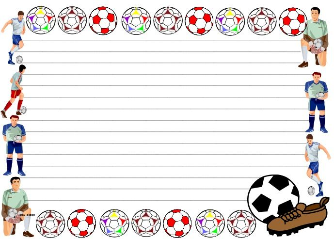 A set of lined paper and pageborders for your Sports or English writing activity.  Download for FREE at:   http://www.tes.co.uk/teaching-resource/Football-Themed-Lined-paper-and-Pageborders-6349866/