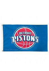 Detroit Pistons 3x5 Deluxe Grommet Silk Screen Flag
