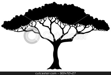how to draw an african tree