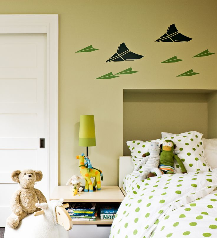 Fun wall decals for boys room.  Portland, OR | LINCOLN BARBOUR PHOTO