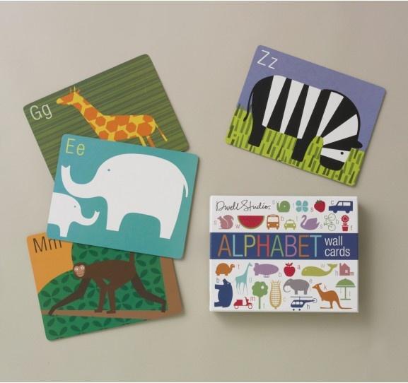 Alphabet cards - för både pojk- och flickrum...
