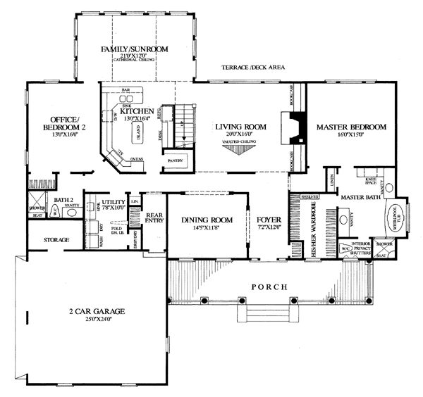 Colonial Farmhouse Southern Traditional House Plan 86268