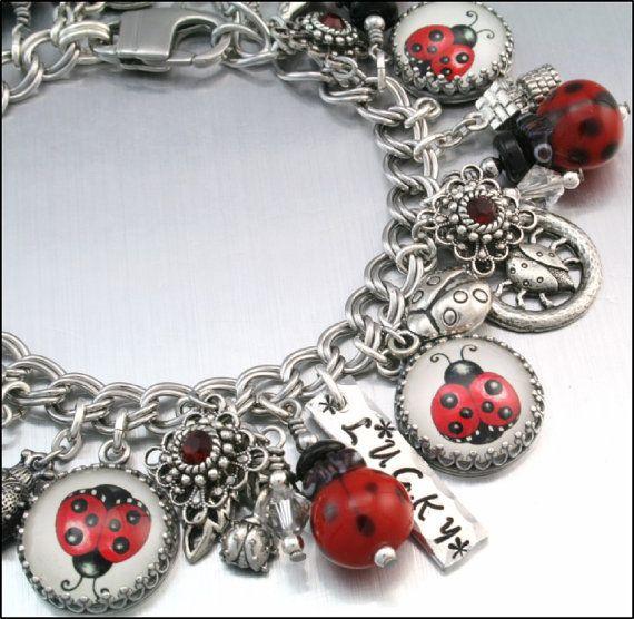 Ladybug Charm Bracelet