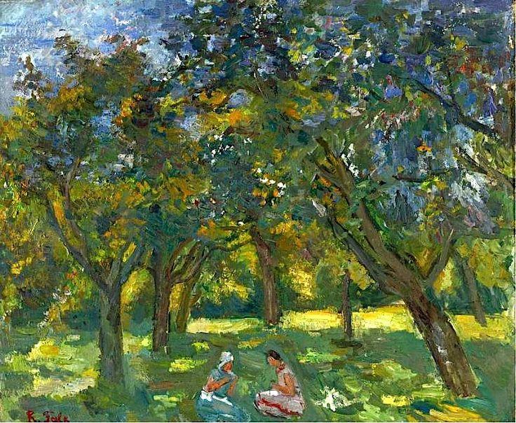 Robert Falk - Two Women Sitting Among the Trees -1930s