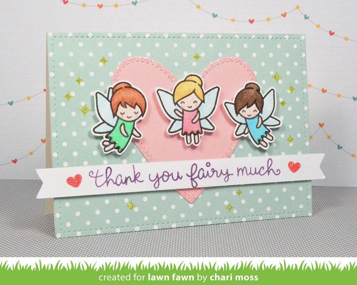 fairy friends   Lawn Fawn                                                                                                                                                      Más