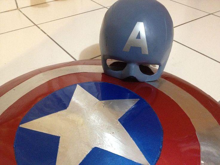 DIY Captain America Shield and Helmet DIY Halloween