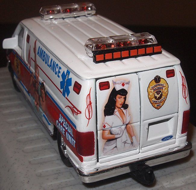 1/43 Road Champs Sexy EMS Ambulance by Bill Smith of Bilbozo Decals