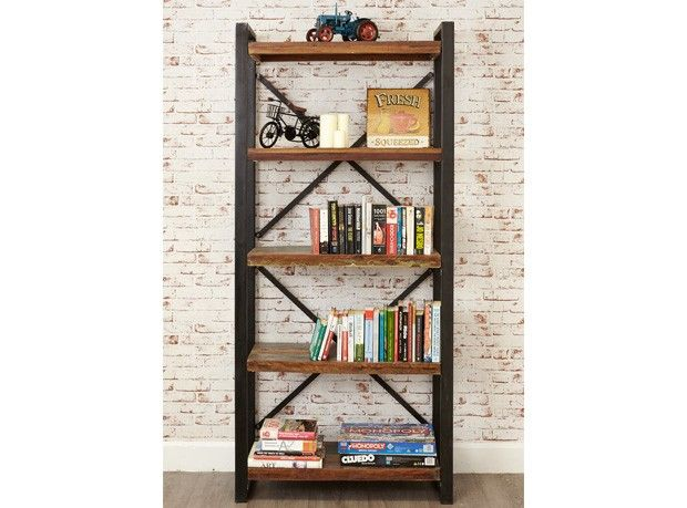 Manhattan Large Open Bookcase - http://www.solidoakfurniture.co.uk/ranges/manhattan-reclaimed-wood/manhattan-large-open-bookcase.html