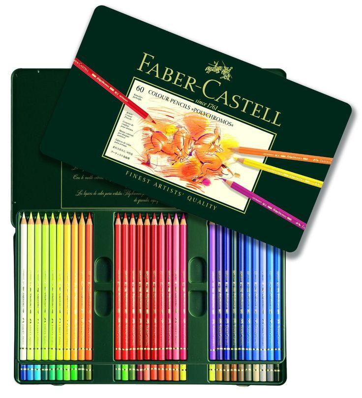 "Estuche/ Caja Polychromo ""Faber Castell"" 60 lápices de color de ArtVillarrubia en Etsy"