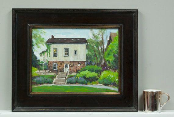 Behind the Mckay House Unionville. Acrylic Plein by WingedCanvas