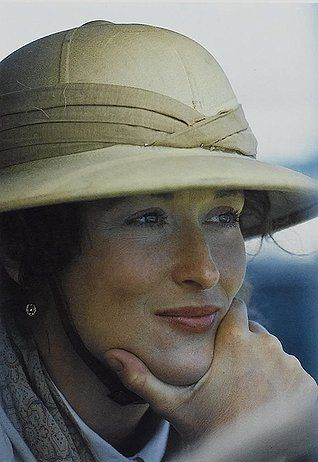 "Out of Africa - my favorite movie, as she buries her love, and the ashes fall from her hand, she says ""he was not mine, he was not ours, he was of the earth"". . . sob"
