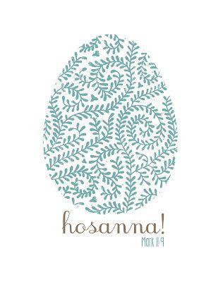 Mostly Homemade Mom - Free Hosanna! Easter Printables  www.mostlyhomemademom.com