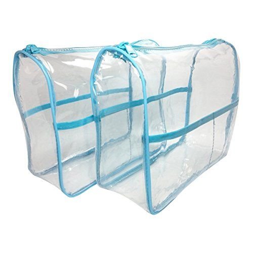 2Pack Clear Vinyl Bag  Large Cosmetic Bag Diaper Bag Organizer Handbag Insert Packing Cubes Craft Supplies Organizer * Click on the image for additional details.