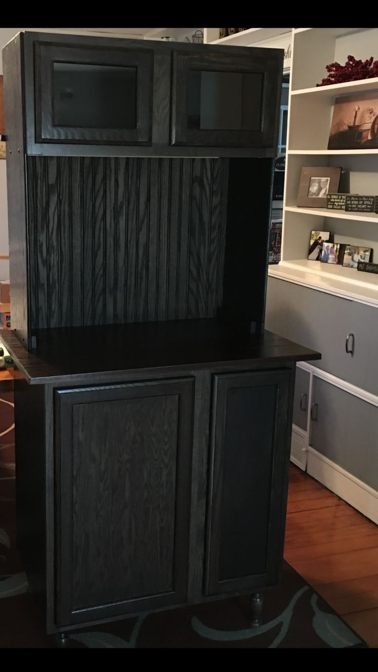Coffee Bar Using Unfinished Cabinets From Lowes Adding Legs And Wire Basket And Shelf See