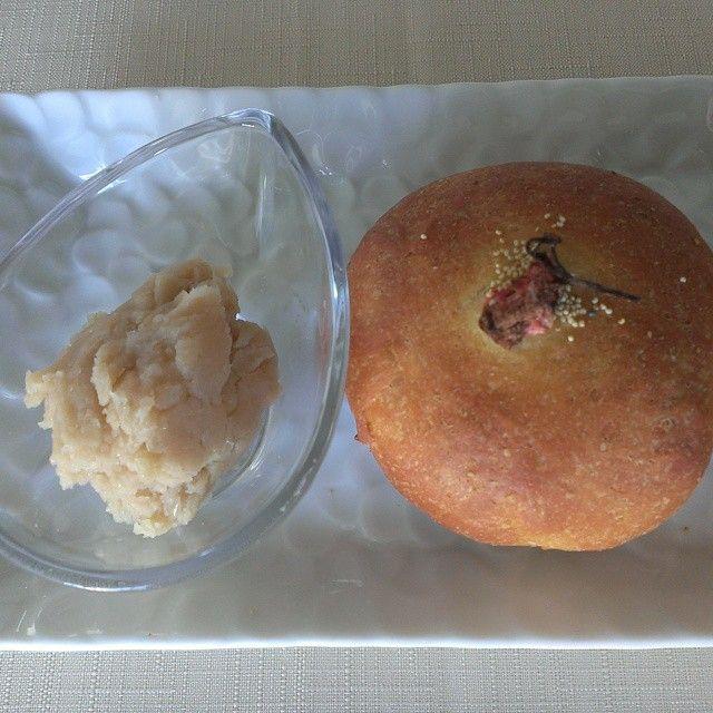 低糖質あんパン 先日買ったお豆をあんに♪  #低糖質#低糖質パン#低糖質あんパン
