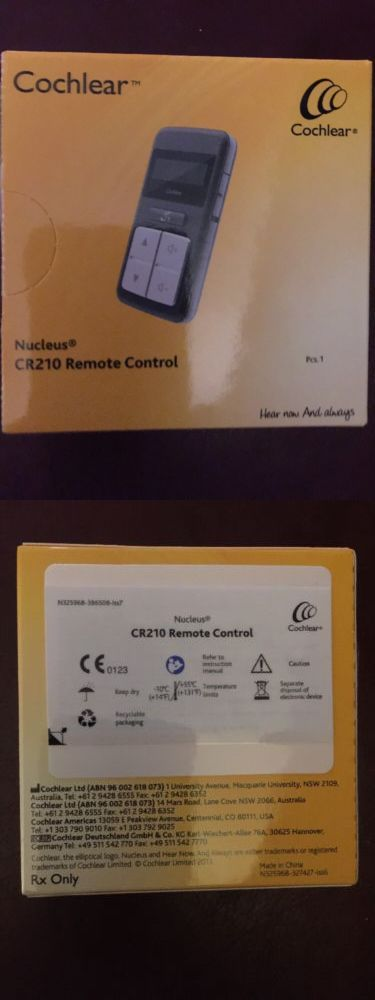 Hearing Assistance: Cochlear Nucleus Cr210 Remote Control New In Box BUY IT NOW ONLY: $89.0