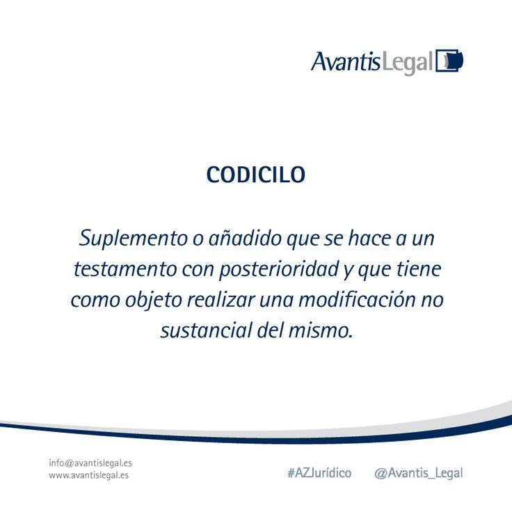 """Esta semana en nuestro #AzJurídico explicaremos el término jurídico """"Codicilo"""""""
