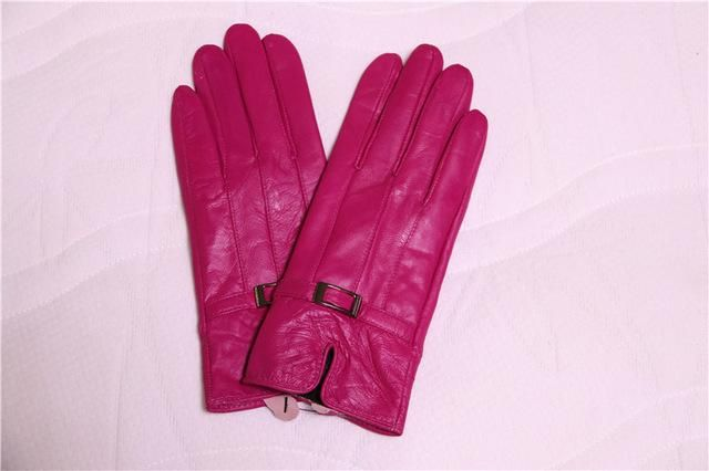 Hot Real Fur Leather Gloves Women Mittens Lady Winter Warm Gloves Multiple Color Thick Genuine Leather Sheepskin Gloves Female