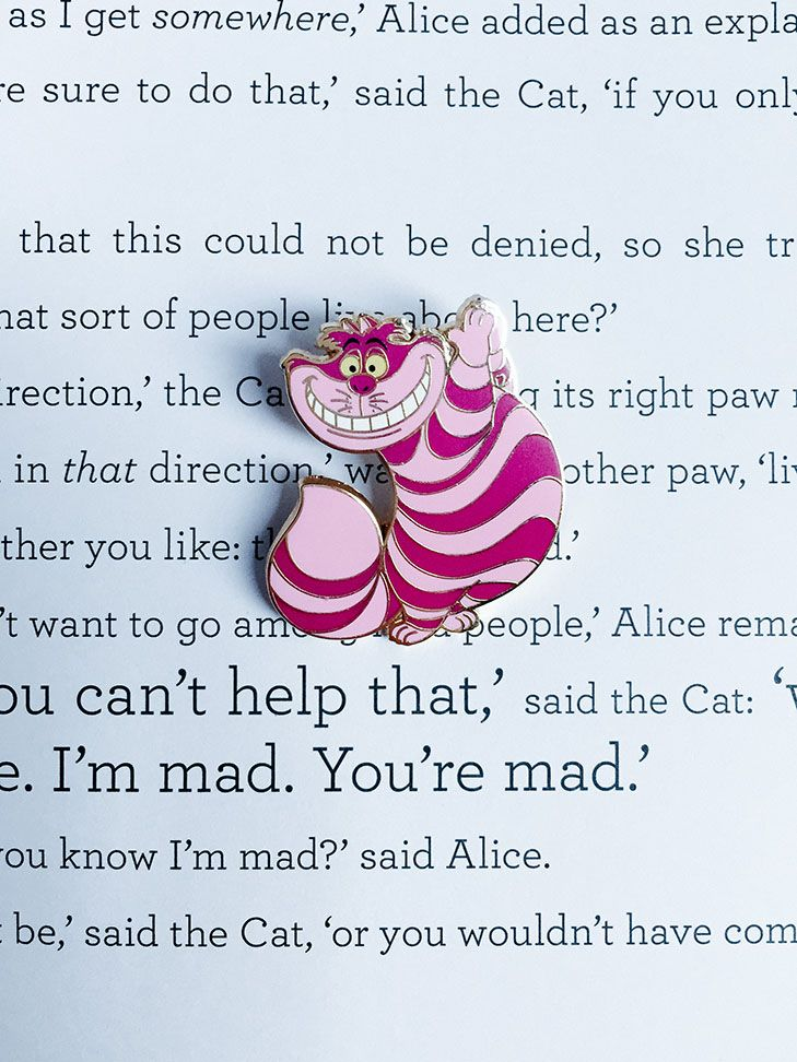 Alice in wonderland cheshire cat pin trading