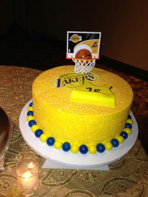 My grooms cake with his favorite number  Go lakers!