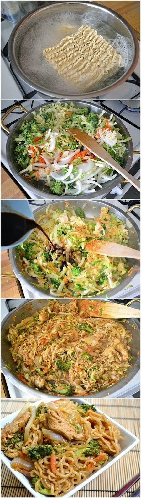 Chicken Yakisoba - Quick Recipeez