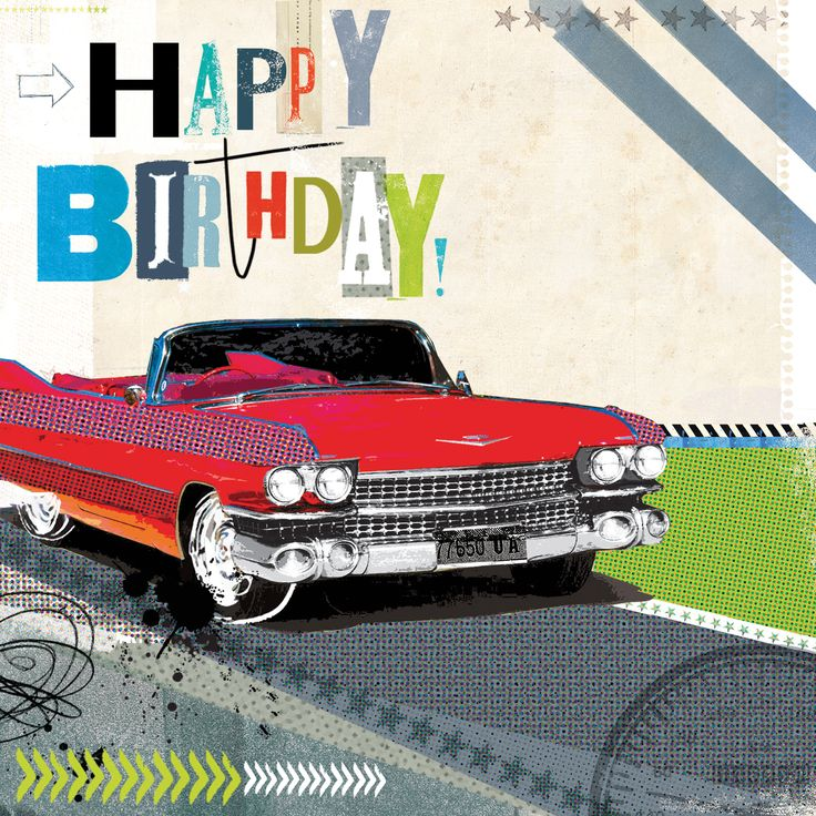 Birthday Drive (W512) Birthday Greetings Card by Amy
