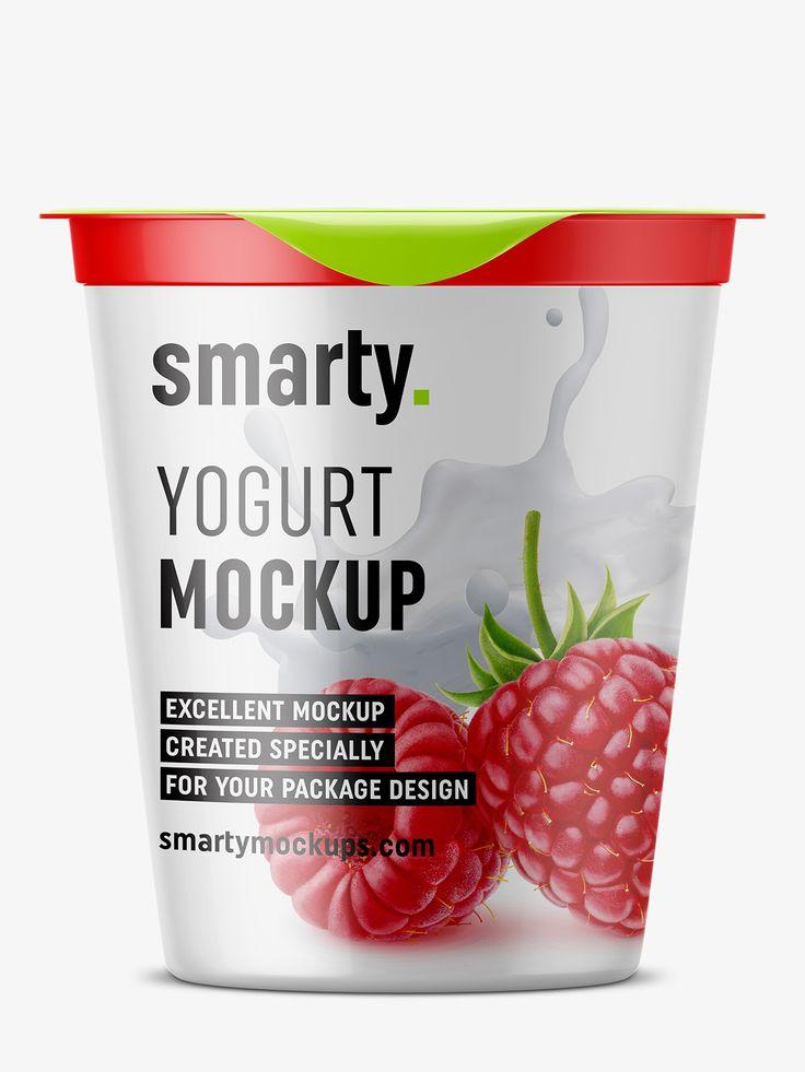 Yogurt mockup / front view