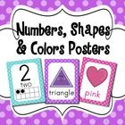 These colorful posters will help provide a visual for teaching concepts of numbers, shapes, and colors, while making your classroom more bright and...