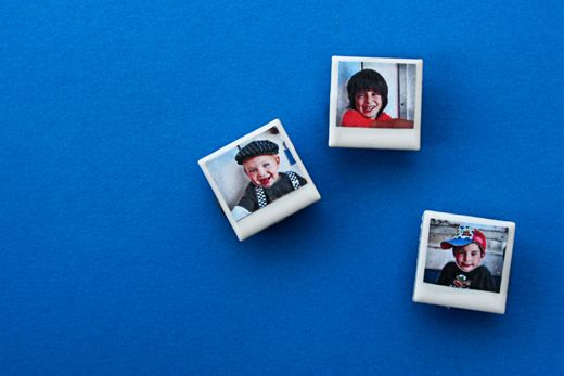 Little Gifts: Mini Polaroid Picture Tile Magnets - Popsicle Blog