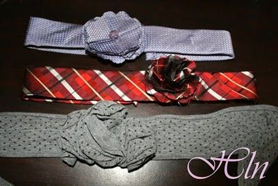 Old Tie Remake: Old Ties, Crafts Ideas, Ties Crafts, Baby Headbands, Head Band, Men Ties, Make Headbands, Girls Headbands, Ties Remake