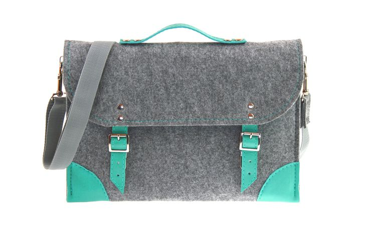 Felt Laptop bag 13 inch with pocket sleeve macbook by etoidesign, $39.00