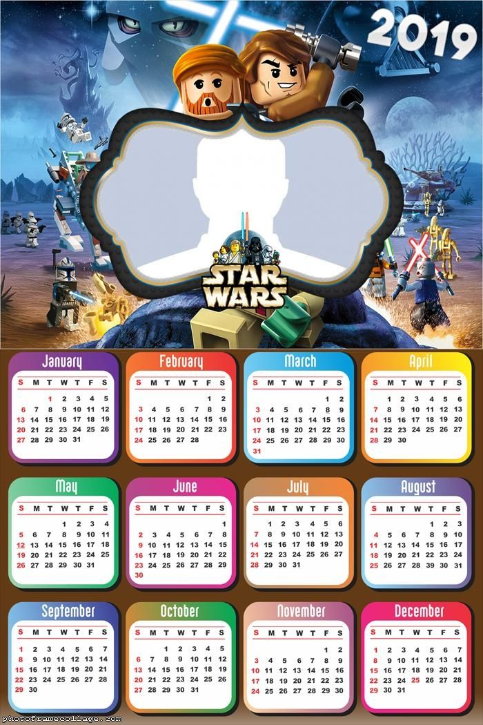Star Wars Lego Calendar 2019 Frame Photo Montage Free ...
