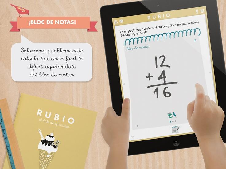 App para iPad de Cuadernos Rubio