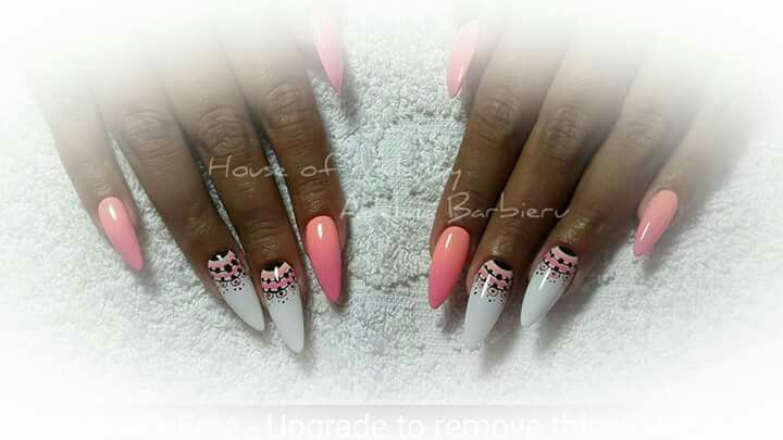 Stiletto neon summer nails design