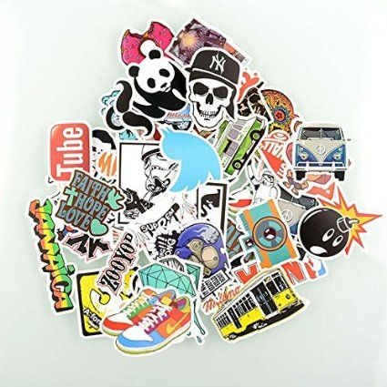 Factory direct sale pack of 50 stickers skateboard snowboard vintage vinyl sticker