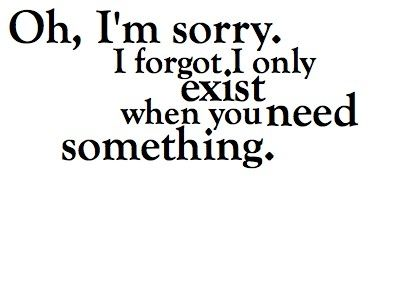 People.... Where are you when I need you? Too busy being selfish?