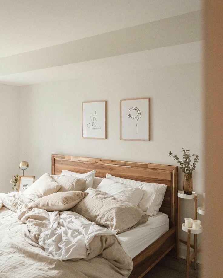 neutral minimalist modern bedroom decor …