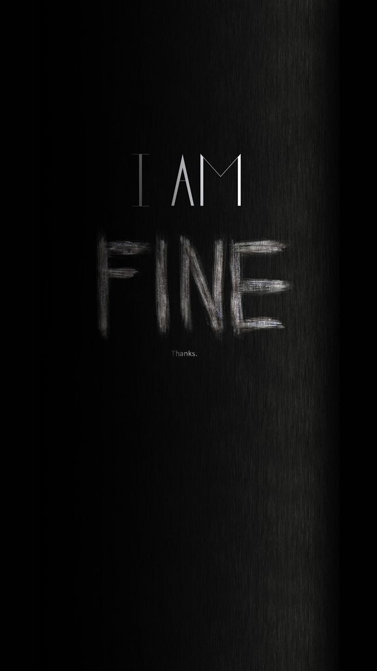 I Am Fine Thanks Angry iPhone 6 Wallpaper