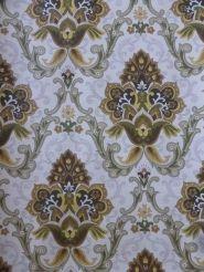 vintage medaillon behang bruin geel groen