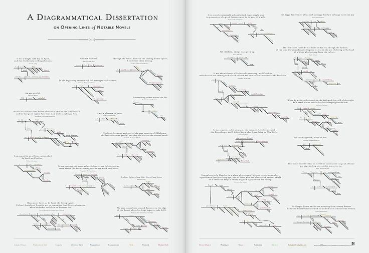 A Diagrammatical Dissertation on Opening Lines of Notable