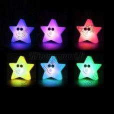 Väriä vaihtava tähti yövalo